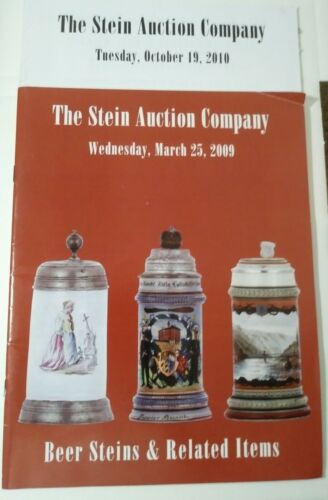 LOT OF 2 ...THE STEIN AUCTION COMPANY CATALOGS  2009/2010 ..BEER STEINS