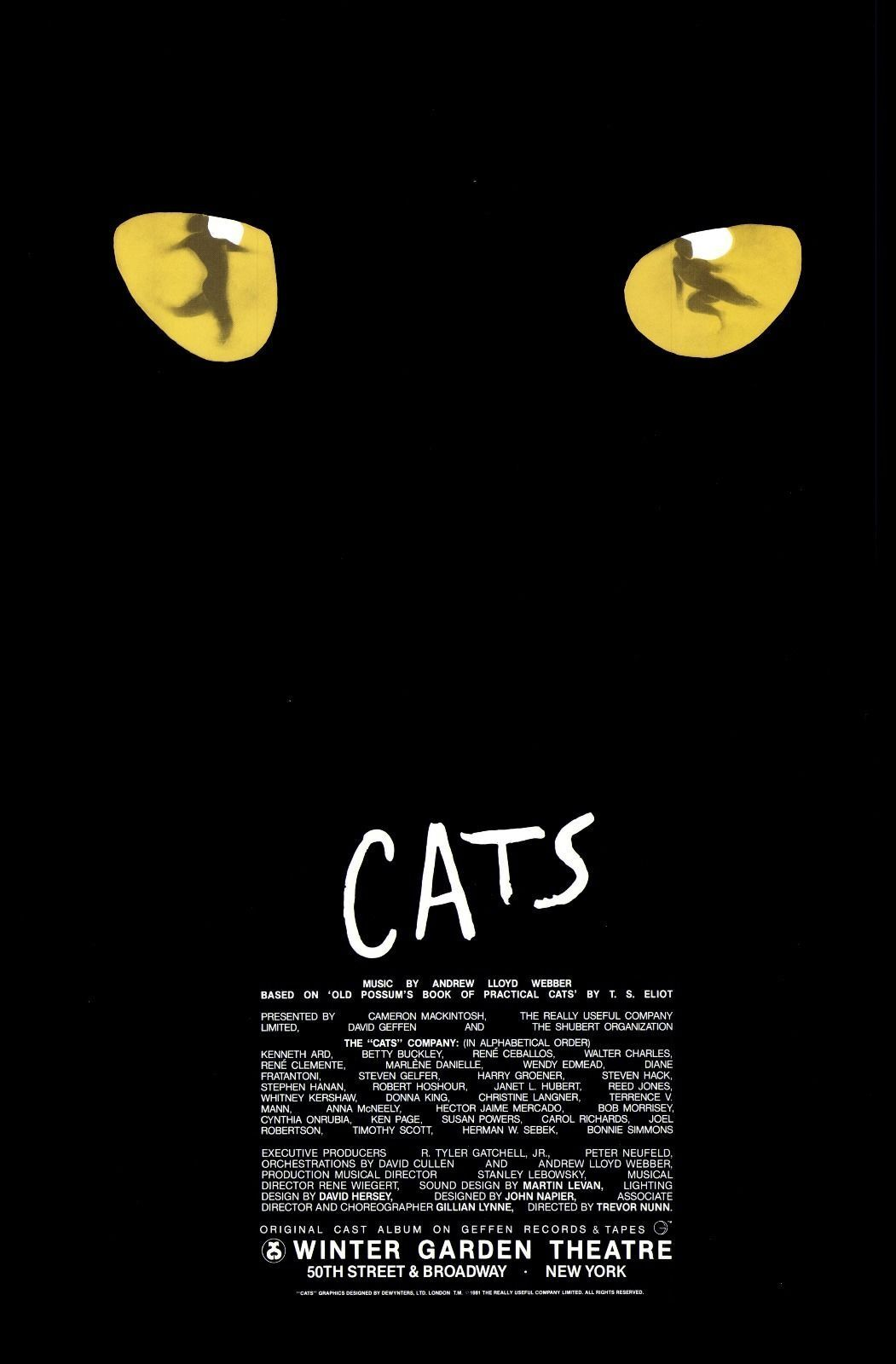 Poster design top 10 - In This 1983 Tony Award Winner For Best Musical The Jellicle Cats Compete With One Another To Win Old Deuteronomy S Approval To Pass On To The Heaviside