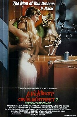 Movie Poster 1986 A Nightmare On Elm Street 2:Freddy's Revenge (3 Sizes)