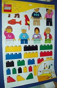 LEGO 850797 LARGE WALL MINI Figure Wall Decoration STICKERS NEW Bricks Kids  Room