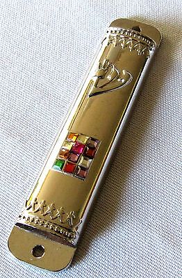 Jewish 12 Tribes of Israel Hoshen Breastplate Mezuzah - Parchment Included! NEW