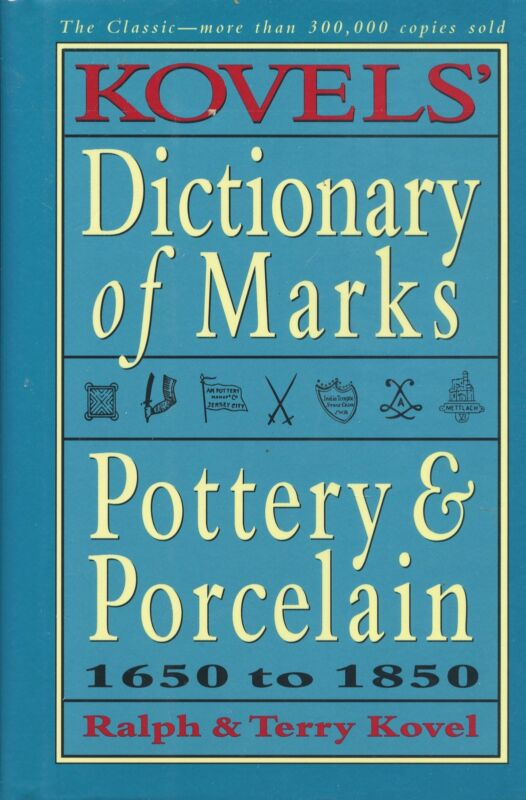 Pottery Porcelain Identification (1650-1805) - Makers Dates Marks / Scarce Book