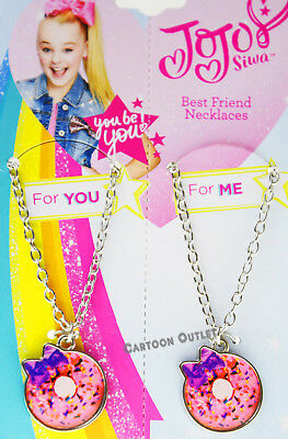JOJO SIWA BEST FRIENDS MATCHING BFF NECKLACE GIRLS BOW PINK DONUT KID GIFT