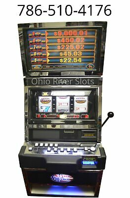 "BALLY S9000 ""STARS AND BARS"" 3 REEL SLOT MACHINE (COINLESS / TICKET PRINTER)"