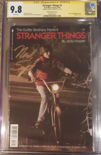 Stranger Things #1 vintage photo cover__CGC 9.8 SS__Signed by Noah Schapp