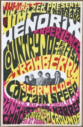 Jimi Hendrix Experience  Authentic Original  Vintage 1967 Concert Promo Poster