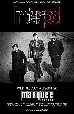 INTERPOL 2014 PHOENIX CONCERT TOUR POSTER - Post-punk Revival, Indie Rock Music