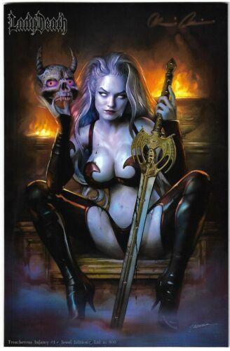 Lady Death Treacherous Infamy 1. Jewel Edition. Maer Cover. Crystals.