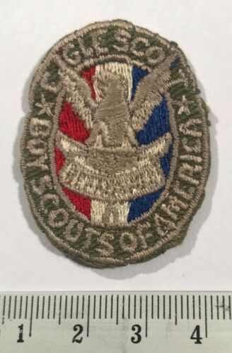 Eagle Scout 1940s 1950s Khaki Vintage Badge Patch Boy Scouts of America BSA