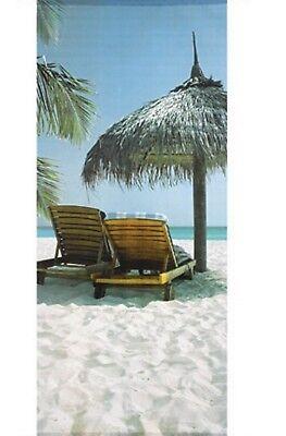 Textilposter Karibik Urlaub Strand  Banner Poster aus Stoff 75x180cm Wanddeko ()