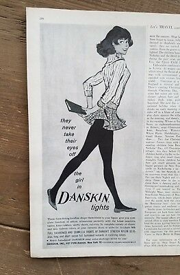 1961 women's fashion never take eyes off girl in Danskin tights stockings ad