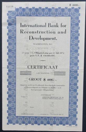 USA - Intern.Bank for Reconstruction and Development - 1972 - SPECIMEN -RARE-