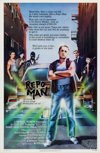 REPO MAN (1984) ORIGINAL MOVIE POSTER  -  ROLLED