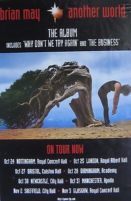 """40x60"""" SUBWAY POSTER~Brian May of Queen 1998 Another World Tour Concert Dates~"""