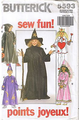 Witch Wizard Queen of Hearts Princess Boy Girl Costume Sewing Pattern Sz 4-14 - Queen Of Hearts Costume Pattern
