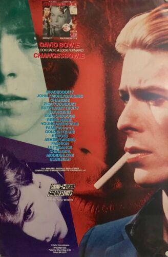 "DAVID BOWIE-CHANGES ORIGINAL ALBUM PROMO POSTER 36"" X 24"" ROLLED NEW"