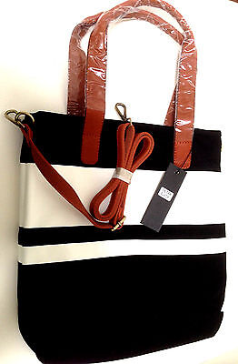 Tote Bag Black White Purse Shopping, Gym Carry-all, Beach, Knitting, School
