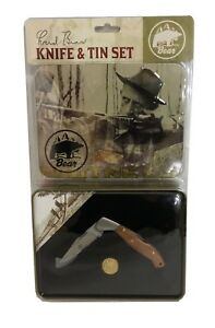 Fred Bear Archery Commemorative Knife and Tin Set With Traditional Medallion