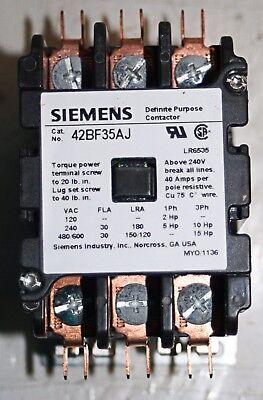 24v 30a 3 Pole Definite Purpose Contactor Furnas Siemens 42bf35aj