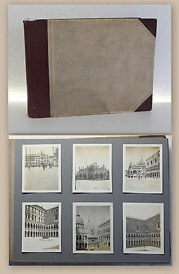 Fotoalbum 124 Fotografien Italien Reise um 1915 Stadt Natur Venedig Ansichten xz