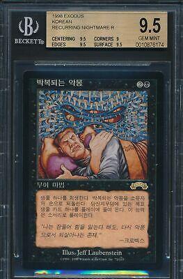 Stronghold Korean Recurring Nightmare BGS 9.5 Graded Magic MTG (6174)