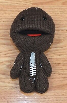 """Gaming Heads Little Big Planet Sackboy 6"""" Brown Knitted Style Plush Doll Only  for sale  Groveland"""