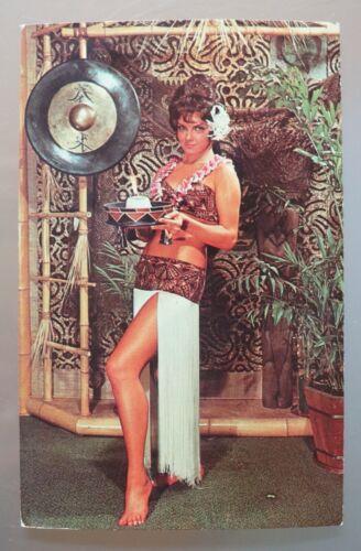 06/05 Vintage RPPC Kahiki Polynesian Supper Club Columbus, Ohio mystery lady