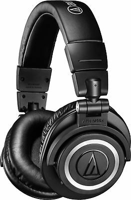 Audio-Technica - ATH M50XBT Wireless Over-the-Ear Headphones - Black