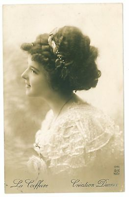 c 1910 Glamour Glamor BEAUTIFUL LADY French Lady Fashion photo postcard