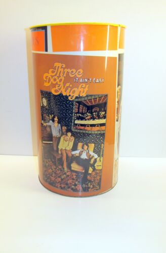 """"""" Three Dog Night """" 1970 Dunhill Records - Vintage  Waste Trash Basket Can"""