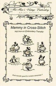 Mammy-X-Stitch-Towels-DOW-Embroidery-transfer-pattern