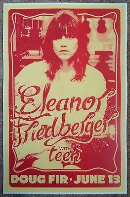ELEANOR FRIEDBERGER 2013 Gig POSTER Portland Oregon Concert