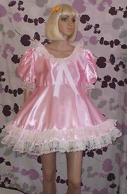 Short Adult Baby Dress Fancy Dress Sissy Lolita Cosplay Wide Lace 2 Row Skirt