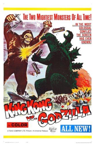 King Kong vs. Godzilla Movie POSTER (1962) Action / Adventure