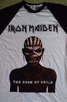Iron Maiden  tour 2017 longsleeved baseball shirt.From book of souls tour.Medium