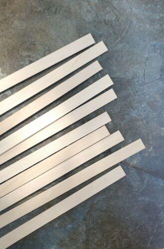 "Dollhouse Wood Strips x10 Flooring 1/16 x 1/2 x 12"" long Basswood 1:12"