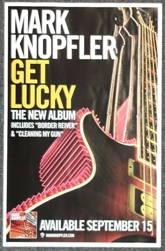 Mark Knopfler Get Lucky 2009 Double-sided PROMO POSTER