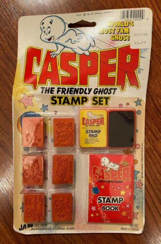 1988 Casper the Friendly Ghost Stamp Set - Ja-Ru Toys