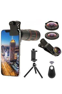 Godefa 18X Telephoto Zoom Lens With 4K Hd Super Wide Angle/Macro/Fisheye Lens, 4