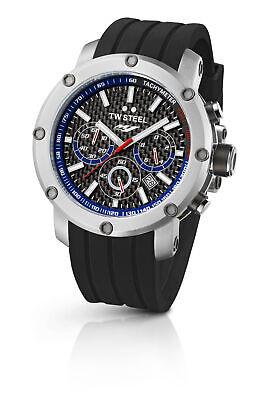 TW Steel TW924 Men's Yamaha Factory Chronograph 45mm Black Dial Rubber Watch