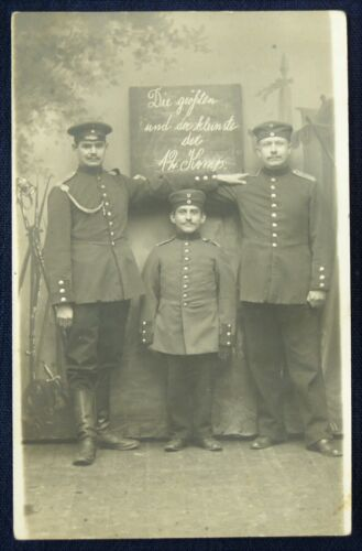 "German RPPC, ""The Biggest and the Smallest of the 12th Comp."""
