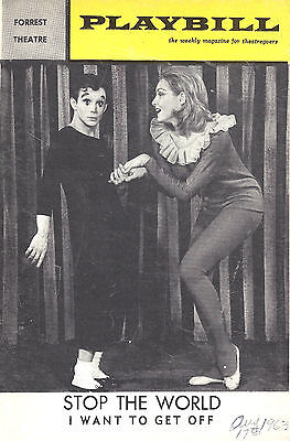"""Joel Grey """"STOP THE WORLD"""" Julie Newmar / Anthony Newley 1963 Playbill"""