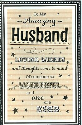 HUSBAND FATHERS DAY CARD EX LARGE  FANTASTIC QUALITY GREAT VERSES