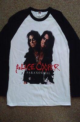 Alice cooper2017 UK tour  baseball shirt.Size XL.