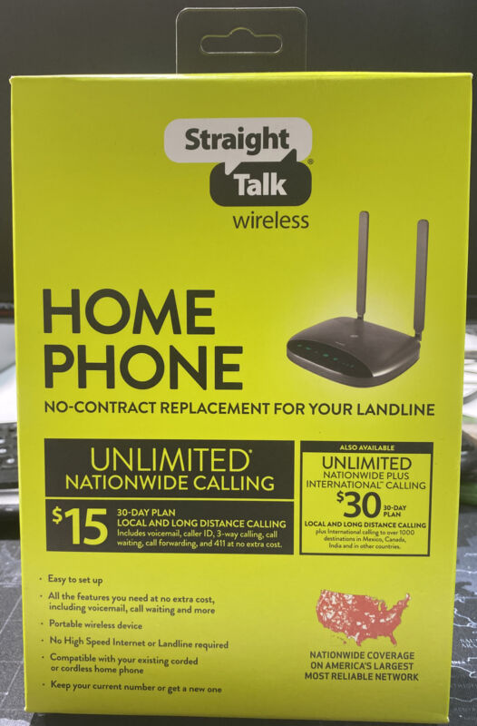 Straight Talk Prepaid Wireless Home Phone Base Station by Moxee Brand New Sealed