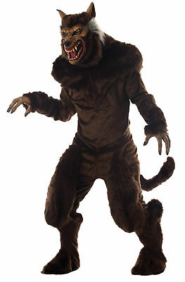 Deluxe Werewolf Adult Costume Monster Brown Beast Hairy Halloween](Deluxe Werewolf Halloween Costume)