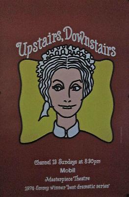 Original 1974 Vintage Poster UPSTAIRS DOWNSTAIRS PBS MASTERPIECE THEATRE