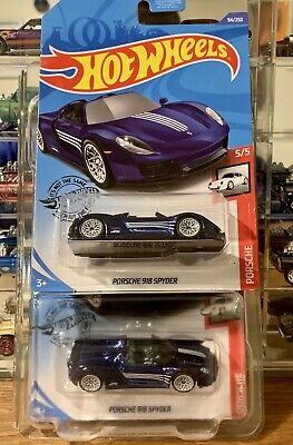 Hot Wheels Super Treasure Hunt Porsche 918 Spyder - LOT OF TWO!