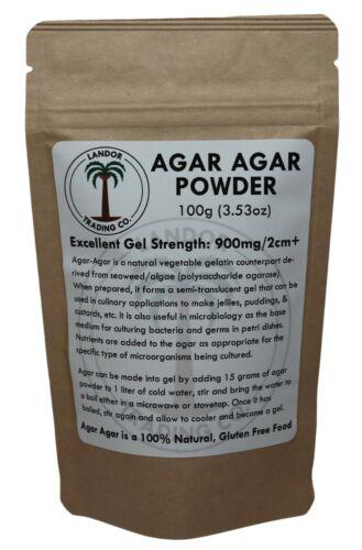 Agar Agar Powder 100 grams - All Natural Seaweed - U.S. Seller!