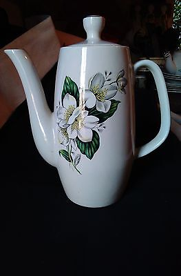 sylvac coffee floral pot 18x22cm